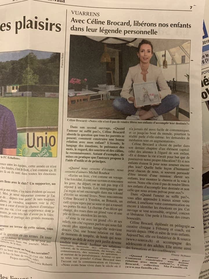 article Echo du Gros-de-vaud 14.6.2019